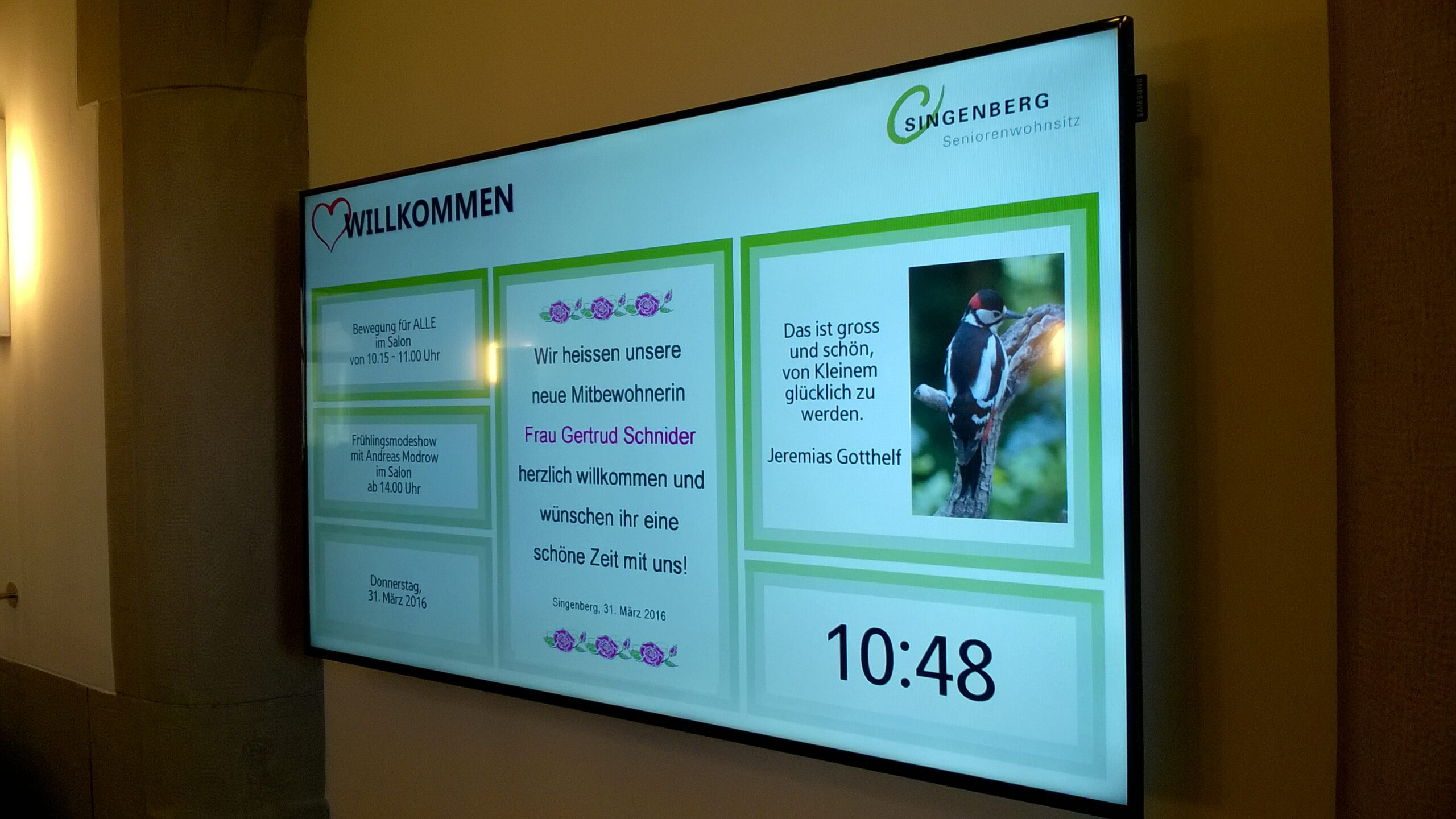 Digital Signage im Foyer